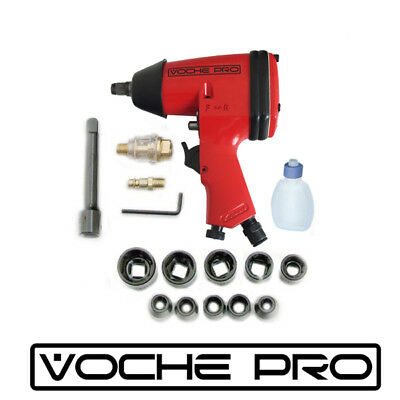 "Voche Pro® 17Pc Red 1/2"" Air Impact Wrench Gun Garage Tool Kit & Sockets + Case"