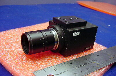 Rvsi Cm4000 Ccd Tv Camera For Machine Vision, Microscope W/nice Close Focus Lens