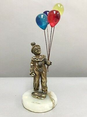 Little Boy Clown W/ Balloons Original  Solid Bronze Master Direct From Ron Lee's