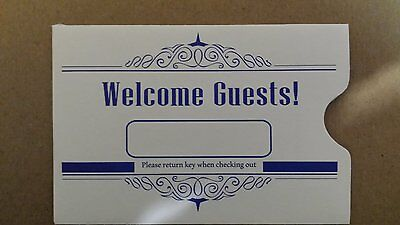 """Hotel Keycard Envelope/ Sleeve """" Welcome Guests"""" 2-3/8"""" x 3-1/2""""1000CT (KCE411B)"""