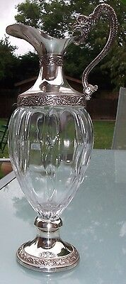 Vintage Glass and Silver Plated Demi Claret Jug from DISTILLERIE BUTON, ITALY