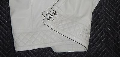 WOW!!!  HARLEY DAVIDSON 3W  Leather Jacket, Creamy Color  FAUX FUR WOW!!!