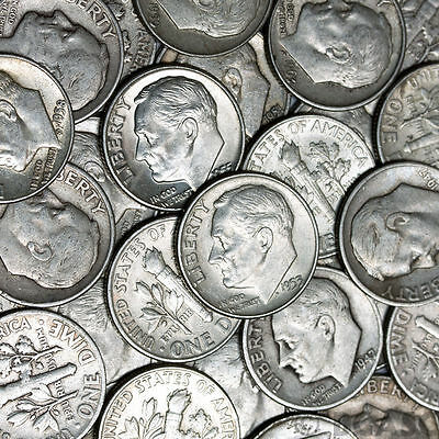 $1 Face Value - 90% Silver U.S. Coins - Roosevelt Dimes Great Buy!