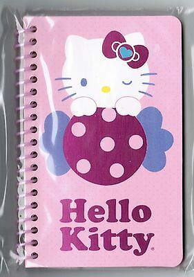 Sanrio HELLO KITTY Small SPIRAL Notebook! NEW PACK Candy Sweets Shiny Bow