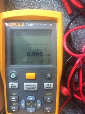 FLUKE 712 RTD TEMPERATURE CALIBRATOR  Used  One Time