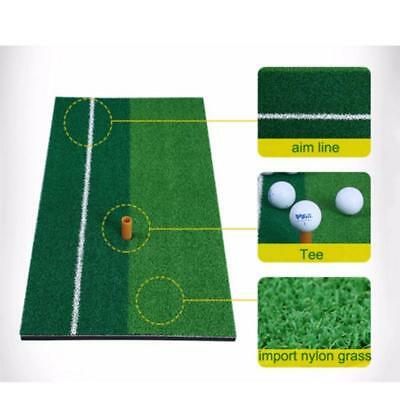 Portable Golf Hitting Mat Home&outdoor Practice Pad 12''X24''Rubber Tee Holder