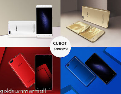 "CUBOT RAINBOW 2 5"" Android 7.0 3G Mobile Cell Phone Quad Core 16GB ROM Unlocked"