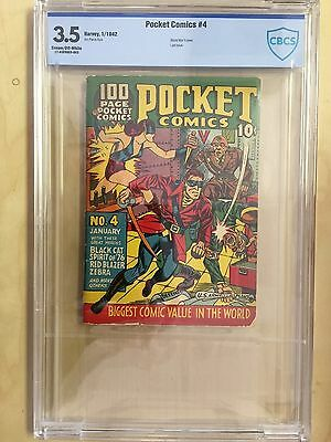 Pocket Comics  4   CBCS  Graded 3.5   Great WW2 Cover and Last Issue   1942