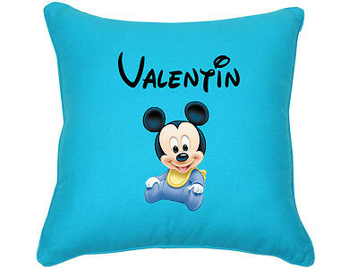 Coussin Mickey turquoise