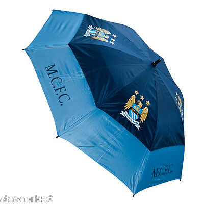 Brand New Manchester City Fc Double Canopy Golf Umbrella.