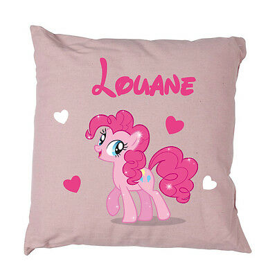 Coussin poney rose