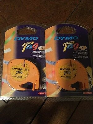"""Dymo Letratag Refill 91336 Yellow Plastic Smiles - 2 Pack 1/2"""" x 13'"""