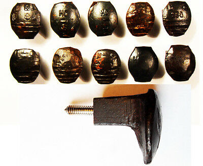10 Easy Screw Railroad Spike Knobs Door Pull Cupboard Old Antique Vintage Rustic