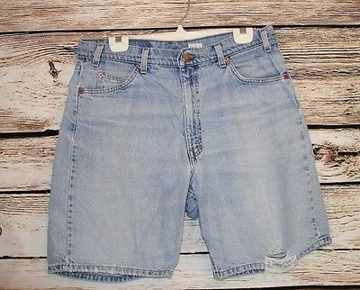 Vintage Men's Levis 550 Distressed Relaxed Fit Shorts SIZE 36 Orange Tab (a50)