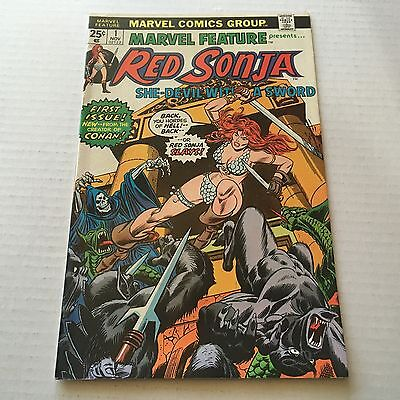 MARVEL FEATURE #1 Bronze Age Key RED SONJA 1975 Series 1st Solo VF/NM #B1