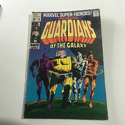 MARVEL SUPER HEROES #18 1st GUARDIANS OF THE GALAXY Marvel Silver Age Key VG