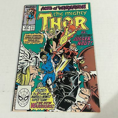 THOR #412 1st NEW WARRIORS APPEARANCE Marvel Copper Age Key DIRECT #b1 NM
