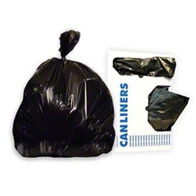 Industrial-Strength Trash Bags -- Black 10 Gallon Office Garbage Bags (1000/cs)