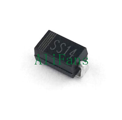 50PCS SMD 1N5819 SS14 40V 1A Schottky Rectifier Diode SMA DO214AC