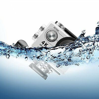 "2"" LCD SCREEN 4K WIFI Sport Action Camera Waterproof HD DV Camcorder 12MP Silver"