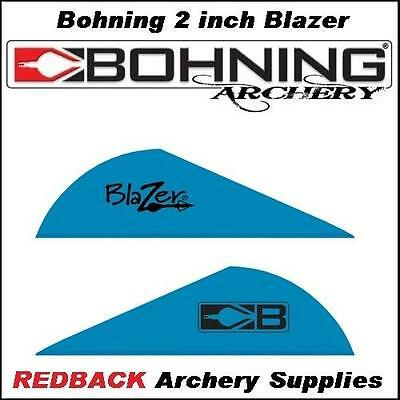 Bohning Blazer Vanes Satin Blue 100 Pack 2 inch for archery hunting arrows