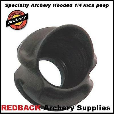 Specialty Archery 1/4 inch 37 degree Hooded Super Peep