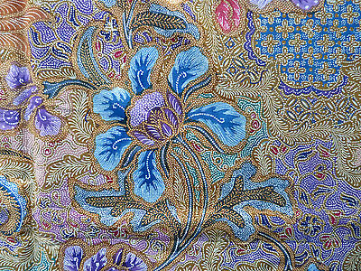 Beautiful floral indonesian handmade batik