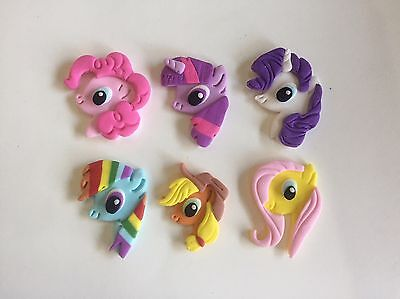 My Little Pony Edible cupcake Toppers Cake - 6 Character Set