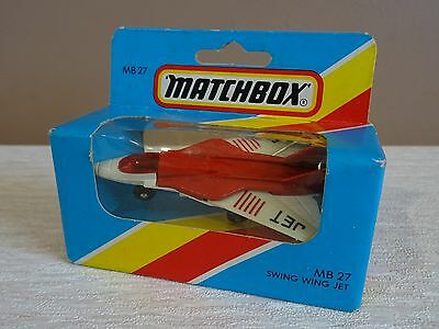 Authentic 1981 Matchbox MB 27 Swing Wing Jet in Sealed box never opened