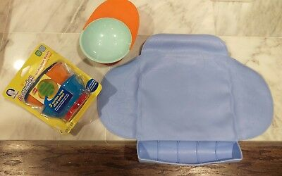 Lot of Boon Catch Bowl with Spill Catcher, Kiddopotamus silicone placemat