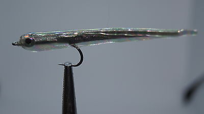 3QTY GUMMY MINNOW PEARL Fly Fishing Flies size 02