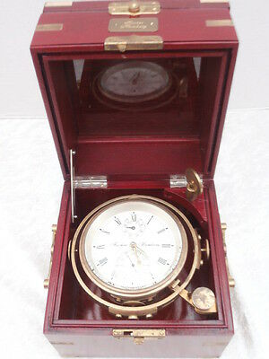 Marine Chronometer Fischer Hamburg  - Watch Clock Marine Clock Deckwatch