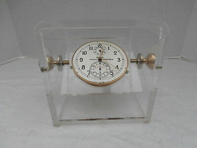Marine Chronometer Kirov In Lucite Case  - Watch Clock Marine Clock Deckwatch