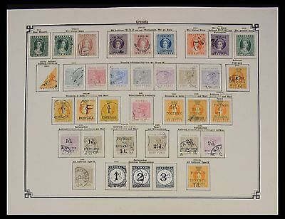 Lot 27590 Collection stamps of Grenada 1861-1908.