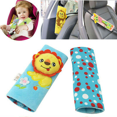 1 Pair Soft Stroller Toy Shoulder Cover Cushion Seat Belt Pads Car Safety