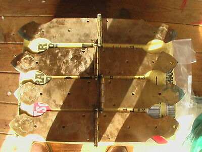 """HINGES RARE 2 PAIR 4""""x 24"""" BEAUTIFUL BRASS  RICHARDS WILCOX  EXCELLENT CONDITION"""