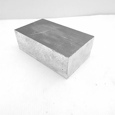 """2.25"""" thick 6061 Aluminum PLATE  4.4375"""" x 6.5"""" Long Solid Flat Stock sku 174931"""