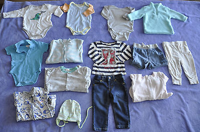 baby boy clothes size 0 bulk lot 14 items + 3 gratis and more