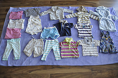 baby boy clothes size 1 bulk 17 items + 2 gratis jackets,polo,robe,pants,shorts