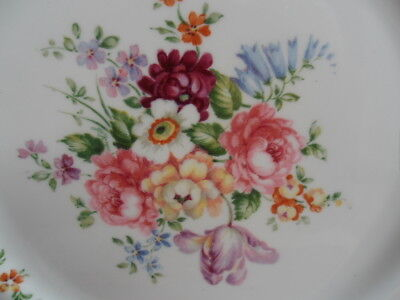 "Crown Staffordshire - England's Bouquet, 2 x 10.5"" Dinner Plates"