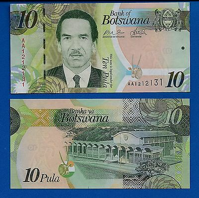 Botswana P-30 Ten Pula Year 2009 ND Uncirculated Banknote Africa