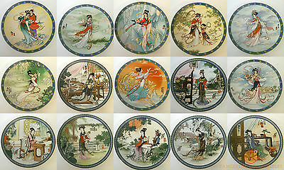 Imperial Jingdezhen Plates Legends Of West Lake / Beauties Of The Red Mansion