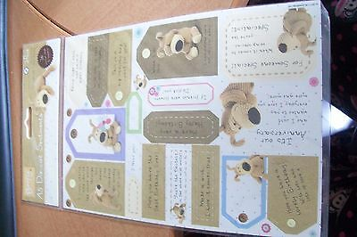 2 Pack With 36X A5 Die Cut Sentiments 21X15 Cm Per Sheet From Boofle New New