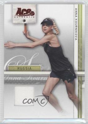 2007 Ace Authentic Straight Sets Materials #7 Anna Kournikova Tennis Card 0a7