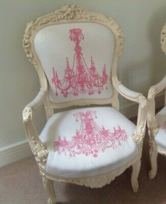 Antique French Fauteuil Chair Salon Lounge Louis XV Style Rococo Andrew Martin