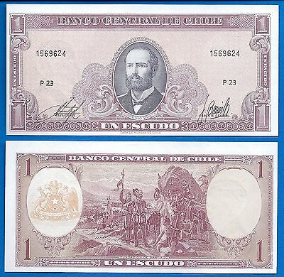 Chile P-136 1 Escudos ND 1964 Uncirculated Banknote FREE SHIPPING