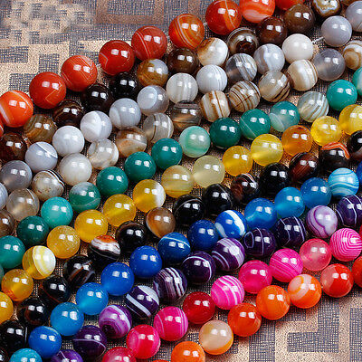 Wholesale Lot Natural Round Gemstone Spacer Loose Beads 4mm 6mm 8mm 10mm 12mm
