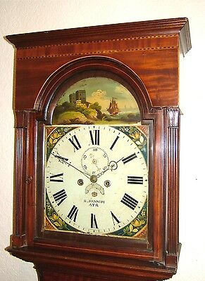 Mahogany, Satinwood & inlaid 8 day Georgian Longcase Grandfather Clock C1830
