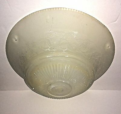 Vintage Art Deco Glass Hanging Ceiling Lamp Shade 3 Hole Light Fixture Frosted
