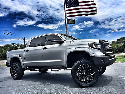 "2017 Toyota Tundra CUSTOM LIFTED LEATHER CREWMAX 4X4 V8 CUSTOM*LIFTED*CREWMAX*4X4*V8*LEATHER*7"" PRO-COMP*22"" FUELS*35"" TOYOS*WE FINANCE"
